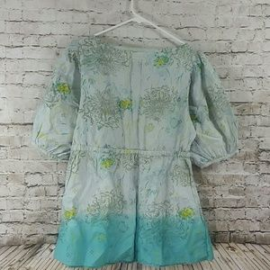 gramicci Tops - beautiful top blues w floral Xl boho top